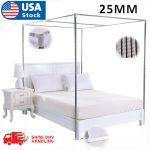 Modern Mosquito Net Bed Netting Canopy Bed Curtain Stainless Steel Frame Post Us For Sale Online Ebay
