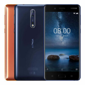 "Nokia 8 64GB TA-1052 Dual Sim (FACTORY UNLOCKED) 5.3"" 4GB RAM Silver Blue Gold"