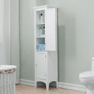 details sur armoire de rangement colonne salle de bain blanc ethan elegant home fashions