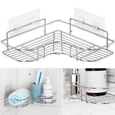 bathroom punch free corner shower shelf