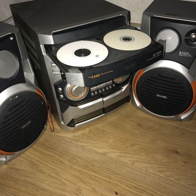 philips fw c355 mini hi fi systeme 3 cd