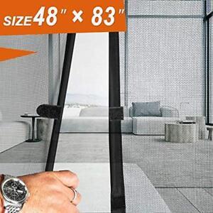 details about magnet screen door magic exterior patio mesh 48 x 83 fit doors size up to 46w
