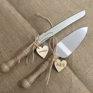 Rustic Wedding Cake Knife and Server Set  Custom Wedding Cake     Image is loading Rustic Wedding Cake Knife and Server Set Custom