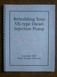 Diesel Injection Pump Rebuild  Bosch VE     Printed Book   eBay Image is loading Diesel Injection Pump Rebuild Bosch VE Printed Book