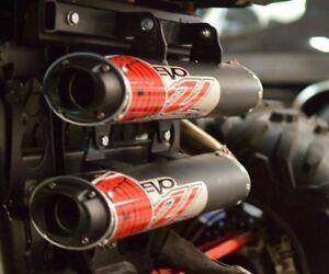 details about big gun evo u dual slip on exhaust pipe polaris rzr xp turbo 4 s 2016