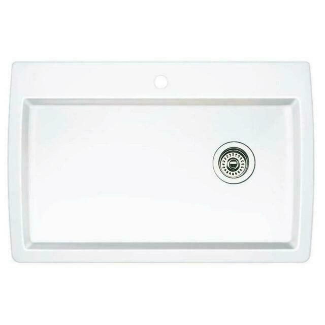 blanco 440195 diamond white super single bowl sink