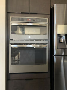 details about ge profile 30 double electric oven w convection and built in microwave