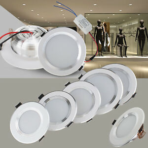 details about dimmable led recessed ceiling light downlight bulbs 3w 5w 7w 9w 12w fixture lamp