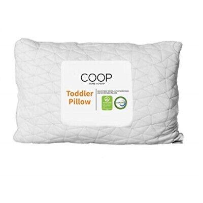 coop home goods shredded memory foam toddler pillow 14x19 adjustable hypoallerge