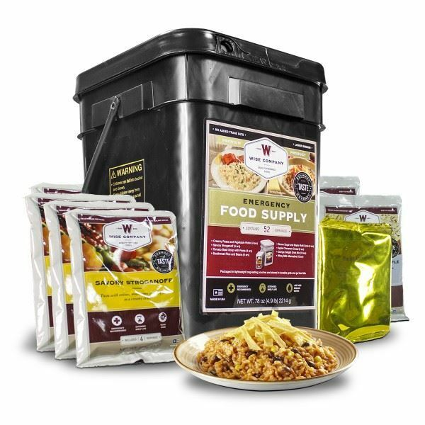 52 Servings of Wise Freeze Dried Emergency Food and Drink Storage MRE Survival 2