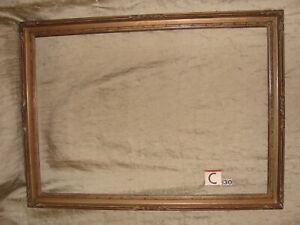 details sur cadre bois sculpte vieux dore