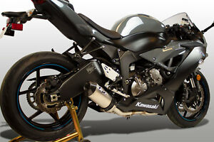 details about m4 exhaust kawasaki zx6r 2009 2021 full system w titanium street slayer canister