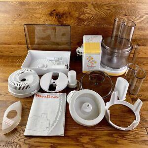details about vintage moulinex masterchef vitasun robot food processor huge bundle accessories
