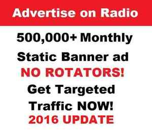 Unlimited USA traffic your website on from RADIO!