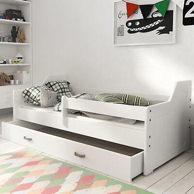 Wooden Storage Bed Frame With Drawers For Children Kids Toddler Slatted Wooden Ebay