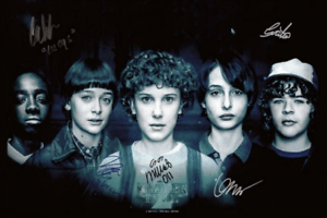 details about stranger things poster cast multi signed autograph print 6x4 gift