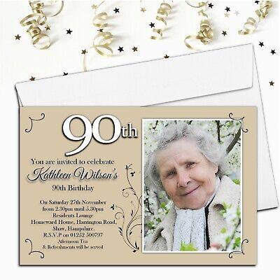 10 personalised 50th 60th 70th 80th 90th birthday invitations n41 any age ebay