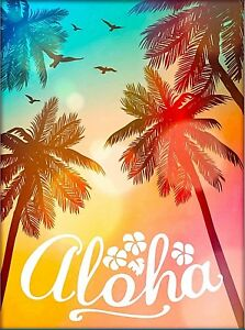 details about aloha hawaii united states travel home wall decor advertisement art poster print