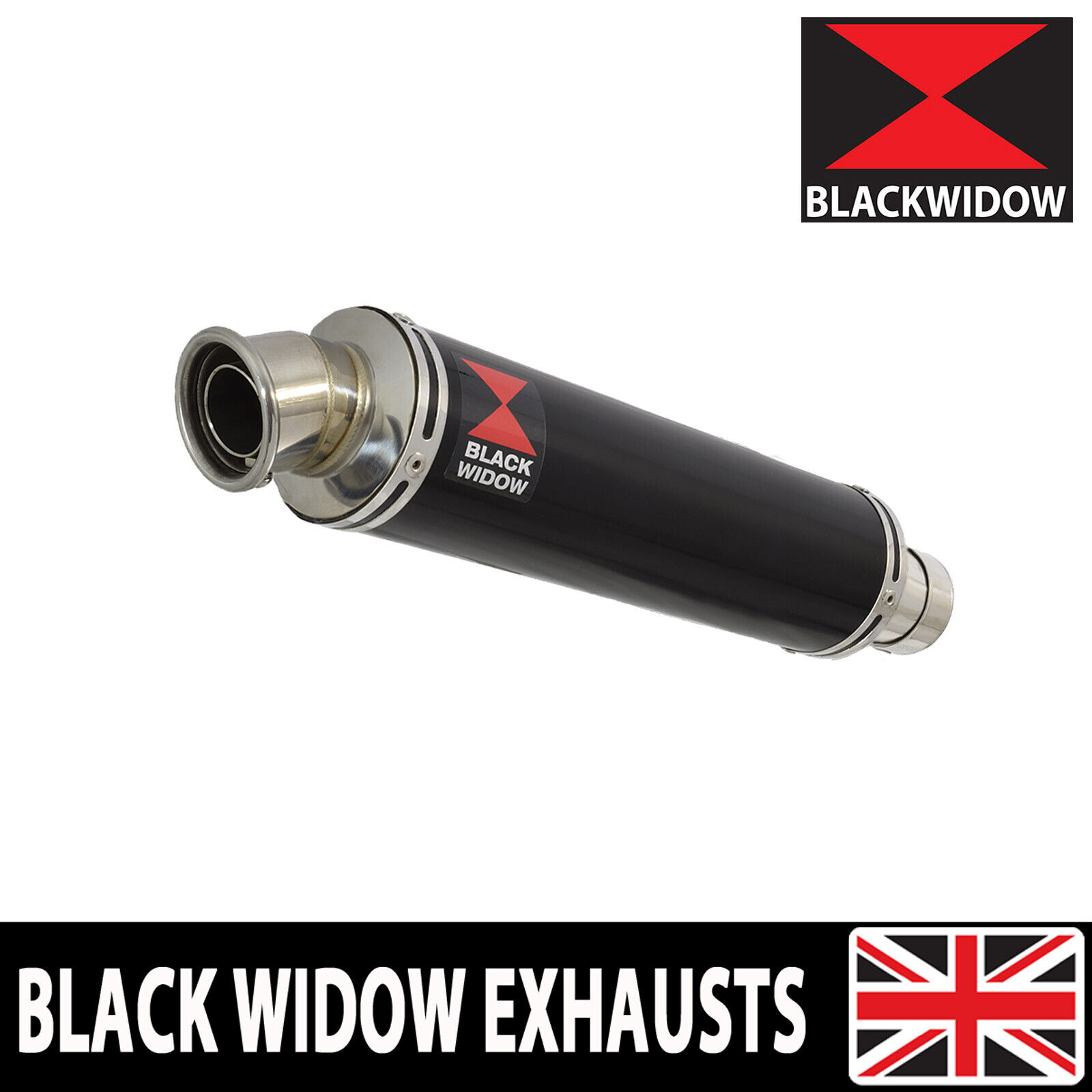 black widow exhausts yzf750r 350mm exhaust silencer kit black stainless