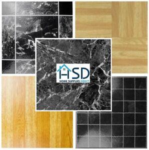 details about vinyl floor tiles self adhesive easy fit flooring diy kitchen bathroom home new