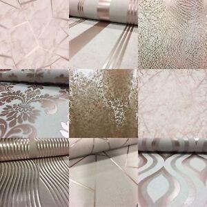 details sur or rose papier peint divers modeles de luxe paillettes effet metallise moderne brillant afficher le titre d origine