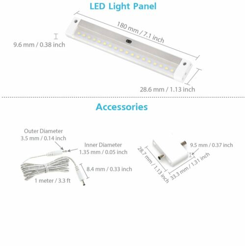 lighting parts accessories eshine white finish led lighting panel bar with ir sensor dimmable under cabinet home furniture diy