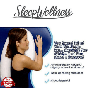 details about sleepwellness orthopedic side sleeper alignment pillow vs neck and back pain