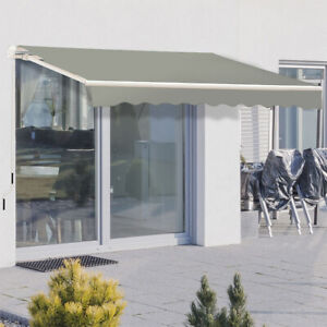 details about patio canopy awning shelter retractable porch rain cover outdoor sunshade garden