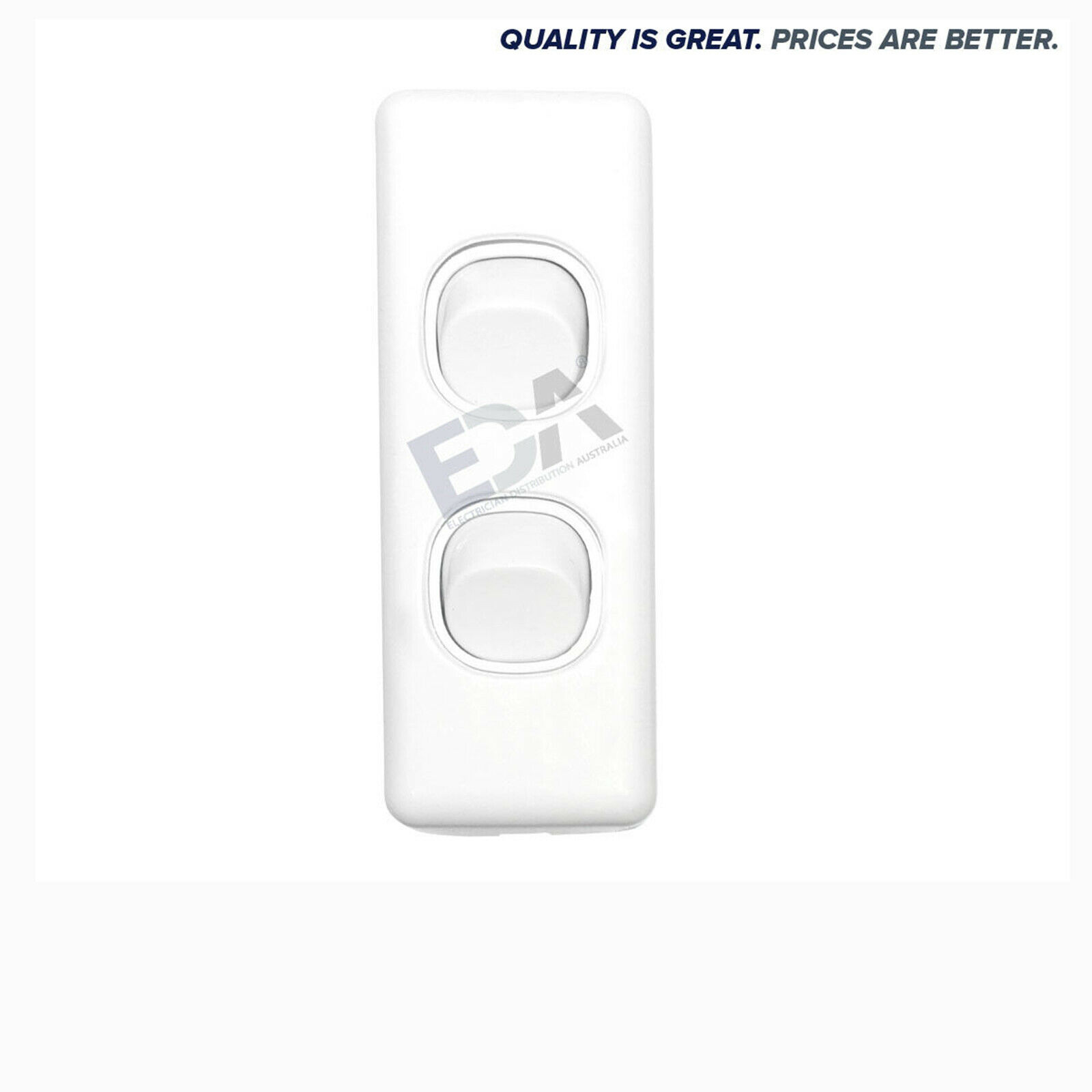 2 Gang Architrave Light Switch Double White Electrical