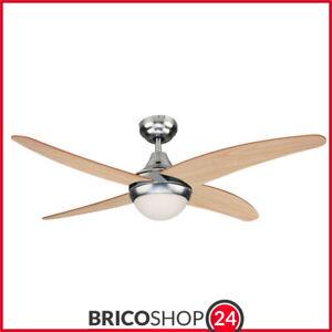 Ventilatore vortice a pale da soffitto con lampadario. Ventilatore Da Soffitto 2 Luci Pale Pino Con Telecomando Ventola Lampadario Ebay