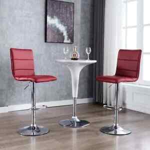 details sur vidaxl 2x chaises de bar rouge bordeaux similicuir tabouret fauteuil siege pub