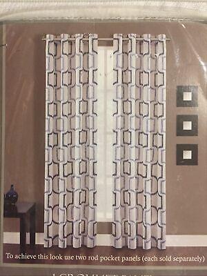 one portinari indigo cotton grommet panel 84 x 50 ebay
