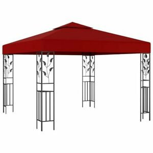 details about hovig 3m x 3m steel patio gazebo wedding party outdoor shade tent canopy