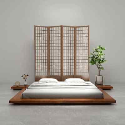 vidaxl cadre de lit futon style japonais bois finition sheesham multi taille ebay