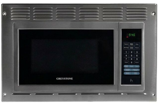 rv motorhome greystone stainless otr built in microwave oven 0 9 cu ft trim kit