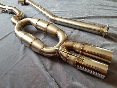 bmw e46 320d stainless steel 60mm straight pipe exhaust gbp ebay
