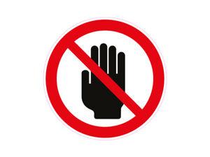 Hops Genommen Hand Zeichen - 1 X Aufkleber Warnzeichen Halt Stopp Handzeichen Warnung Achtung Sticker Hand Ebay