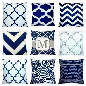 details about 24x24 navy blue accent decorative throw pillow cover sofa couch cushion case us