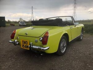 1974 MG Midget RWA chrome bumper project, genuine wire wheel car NO RESERVE!!