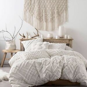 BRAND NEW Linen House Sanura White Duvet Doona Quilt Cover Set Cotton EBay