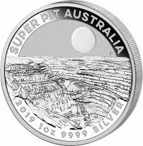 Super Pit 2019 Australien 1$ Super Pit Gold Mine 1 Unze Silber - Erstausgabe!