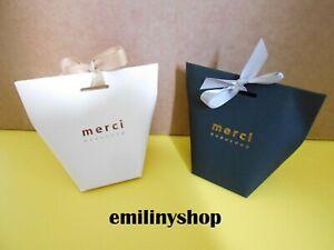 details sur 1 boite cadeau cartonnee sac sachet fantaisie 12x10 merci beaucoup cadeau bijoux