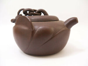 Chinese Yixing Zisha Clay Teapot Signed Twice by Artist Xin-hua Tung