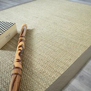 details sur tapis kalapa fin jonc de mer fibres vegetales ganse taupe salon sejour
