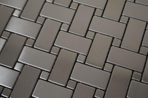 flooring tiles stainless steel metal basket weave mesh mounted sheet for backsplash wall tile floor wall tiles
