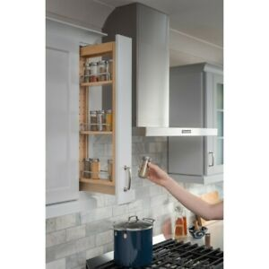 details about 3 x 30 wall cabinet filler pullout kitchen cabinet spice rack roll out