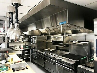 10 commercial kitchen wall canopy hood exhaust fan and supply fan package ebay