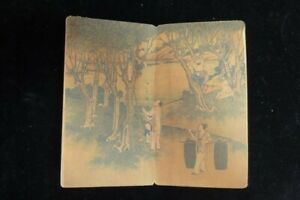 """Rare Thick Old Chinese Hand Painting Landscape """"GengZhiTu"""" Book"""
