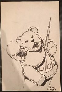 ORIGINAL PETER LAIRD KING CON PROMOTIONAL COMIC ART SKETCH! TMNT!