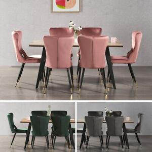 details sur luxe rocco table salle a manger 4 new york velours chaises cuisine maison meuble